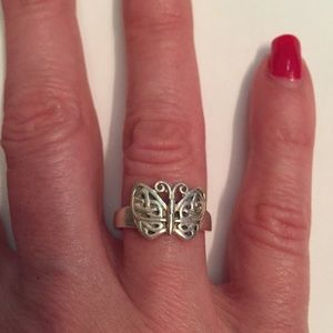 🦋RING STERLING SILVER PSCL PETER STONE BUTTERFLY